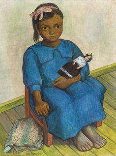 Diego Rivera (1886-1957) Nina Con Muneca 1939 (50,8 by 38 cm)