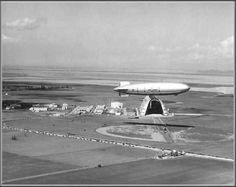 Photo: NAVY Airship USS  Macon over Moffett Field, Sunnyvale, Ca, 1934