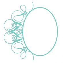 Fancy Flourish Oval Frame