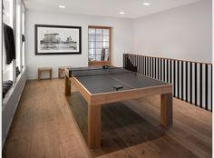 own a custom table tennis table that doubles as a dining table