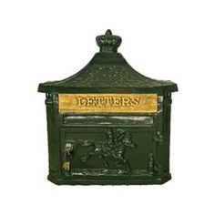 Victorian Green Aluminium Wall Mounted Post Box > Wall Mounted Post Boxes > Main Section > The Mailbox Shop