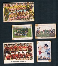 From Plymouth to Pelé! Argyle to Argentina! Crazy cards: Plymouth Argyle FC versus Argentina, in 1924 (green team and pipe smoking captain Russell shaking hands with Argentine captain Calomino); and Scotland's Third Lanark F.C. (in red) versus Argentina in 1923, with a couple of Pelé cards: Carl Schutt vending machine gum card a few months earlier than Heinerle, from 1959-60; and a Lampo 1962 Italian card of Pele and Brazil World Football, Football Soccer, Soccer Cards, Baseball Cards, Plymouth Argyle Fc, Pipe Smoking, Vending Machine, Rarity, Third