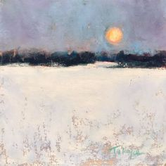 Snow Moon Original art painting by Takeyce Walter - DailyPainters.com