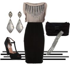 Another look for a holiday party - sparkling embellishments.