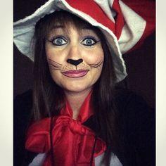 cat makeup cat in the hat halloween costume - Cat In The Hat Halloween Costume Ideas