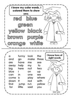 """Kindergarten Graduation Book Have students """"Show what they know"""""""