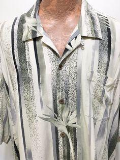 Tommy Bahama Mens 2XL Green Ivory Birds of Paradise Silk Hawaiian Shirt…