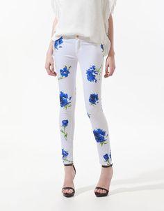 #zara #pantalon #floresazules #tiendaropa