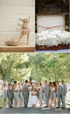grey wedding party