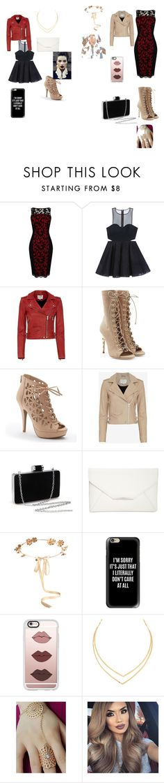 """""""Night on the town"""" by riley-mcmullen on Polyvore featuring Karen Millen, Bebe, IRO, Balmain, Apt. 9, Style & Co., Eugenia Kim, Casetify and Lana"""