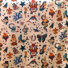 Traditional Sailor Prints - Alexander Henry Collection 100% Cotton