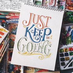 Nowhere to go but forward ✨ Happy Monday! #typebyabc #artbyabbeysy