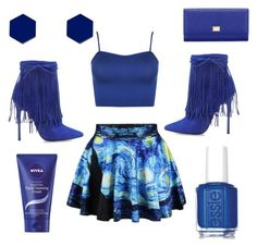 """""""Blue Knight"""" by crystalgem11 on Polyvore featuring WearAll, Dolce&Gabbana, Wolf & Moon, Essie and Nivea"""