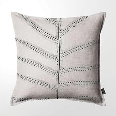 Scatter Cushion (DBL sided print ) - Fern Printed Cushions, Printed Linen, Scatter Cushions, Throw Pillows, Ferns, Cotton, Fossils, Image, Toss Pillows