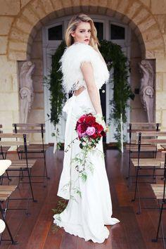 plume mariage bolero plume dautruche par modeandaffaire sur etsy - Bolero Plume Mariage