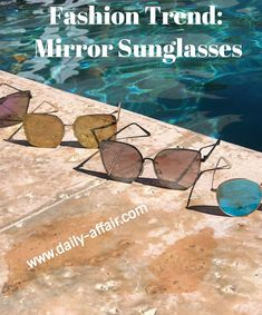 Affordable trending mirror sunglasses, in blue, rose gold, gold, silver, black, aviators and ray bans