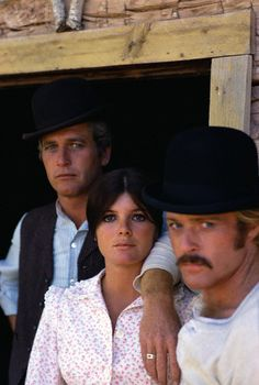 Paul Newman, Katharine Ross and Robert Redford in Butch Cassidy and the Sundance Kid.