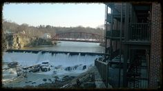 Waterfall behind the Diamond Mills Hotel in Saugerties NY