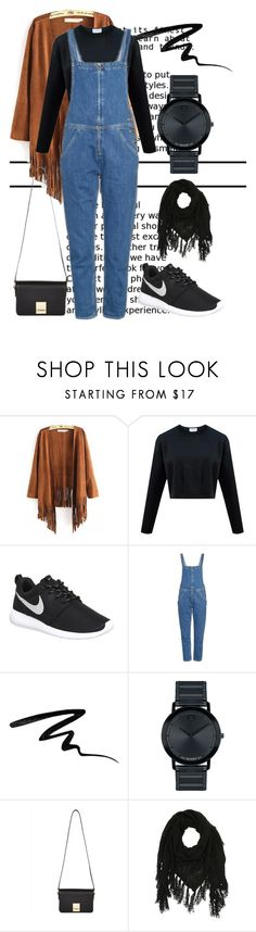 """""""Gentle Denim"""" by mariekantharidis on Polyvore featuring NIKE, MiH, Eyeko, Movado, Jaeger, Charlotte Russe, denim, casualoutfit, CasualChic and SpringStyle"""