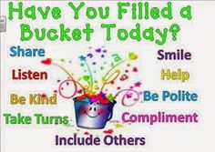 """What fills your bucket? What makes you smile, feel whole, or regain your strength? One of my favorite books to share with my kids is about being a BUCKET Filler! Have you read it? """"Have you Filled a Bucket Today?"""" by Carol McCloud Bucket Filling Classroom, Bucket Filling Activities, Teaching Social Skills, Social Emotional Learning, Teaching Ideas, Primary Teaching, Primary Education, Preschool Ideas, Primary School"""