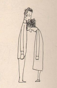 Illustration by Saul Steinberg Art And Illustration, Illustrations Posters, Art Sketches, Art Drawings, Indie Drawings, Saul Steinberg, Art Design, Art Inspo, Painting & Drawing