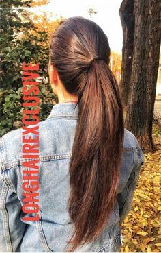 Ponytail Scrunchie, Long Hair Ponytail, Ponytail Hairstyles, Cool Hairstyles, Beautiful Long Hair, Beautiful Women, Long Hair Cuts, Long Hair Styles, Braids