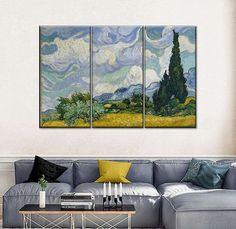 How to Make Your Small Interior Look Large - Beauty and the Mist Canvas Size, Canvas Frame, Canvas Wall Art, Canvas Prints, Art Prints, College Room Decor, Wheat Fields, Mirrored Furniture, World Of Interiors
