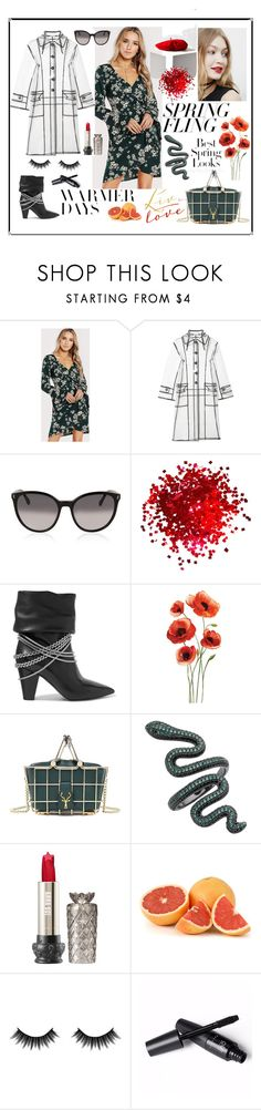 """""""Untitled #672"""" by explorer-14673103603 ❤ liked on Polyvore featuring Miu Miu, STELLA McCARTNEY, self-portrait, H&M, Morphe and springdresses"""