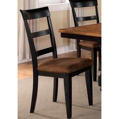 Denmark Classic Distressed Black Dining Chairs (Set of 2) $291. Overstock