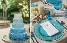 scuba blue wedding palette - Google Search