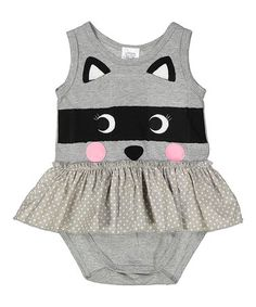 Loving this Silver Raccoon Organic Skirted Bodysuit - Infant on #zulily! #zulilyfinds