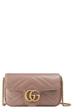 4cb057b3ce Gucci Supermini GG Marmont 2.0 Matelassé Leather Shoulder Bag available at   Nordstrom Gg Marmont