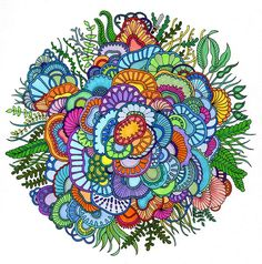 Coral coloring page from Lost Ocean by Joanna Basford
