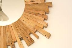 Cómo hacer tu espejo de sol con maderas recicladas (via www.diyambo.com)