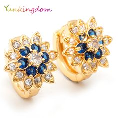 Charms crystal hoop earrings for women boucle d'oreille femme jewelry