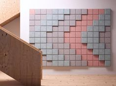 Acoustic Wood Wool Panels BAUX 3D PIXEL by BAUX