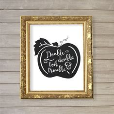Double Double Toil & Trouble Wall Art Printable by FebruaryLane