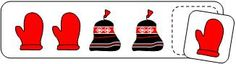 Printable Patterning Activity for the book The Hat by Jan Brett.  From Making Learning Fun