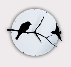 The Birds on Tree Shadows is created and handmade by me and it's absolutely unique.   This Clock is eye catching and would make a perfect addition to any home, office or cafe.  It's my own design printed and cut on 3mm plastic.