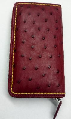 Natural Ostrich Women's Wallet  Handmade