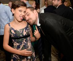 David Harbour and Millie Bobby Brown Emmy event