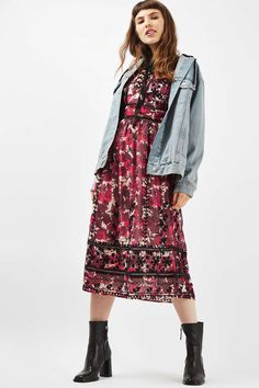 Floral Embroidered Midi Dress - Dresses - Clothing - Topshop USA