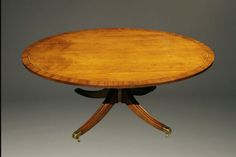 English style oval coffee/ tea table with pedestal base. Antique Coffee Tables, English Style, Pedestal, Base, Shapes, Tea, Antiques, Furniture, Home Decor