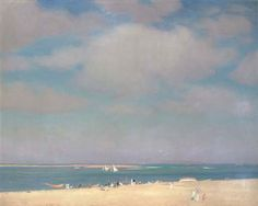 William McGregor Paxton (American, 1869-1941) - The Beach at Chatham, c. 1915 - Oil on canvas
