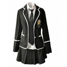 Lemail Wig New Autumn and Winter British School Uniforms Suit and... (38 DKK) ❤ liked on Polyvore