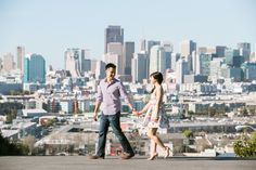 San Francisco Engagement Session: Potrero Hill & SF City Hall – Terry + Kevin