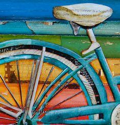 ART PRINT Bicycle art Beach Art Bike print por dannyphillipsart