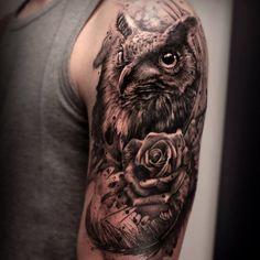 owl tattoo men - Google zoeken