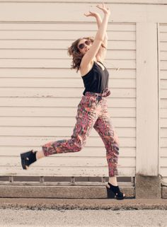 outfit of the day: crazy pants #ootd #whattowear #fashion @Splendid