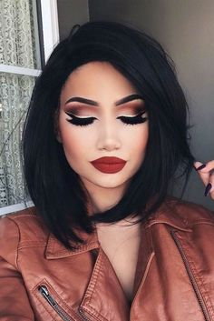 Gorgeous Makeup: Tips and Tricks With Eye Makeup and Eyeshadow – Makeup Design Ideas Beauty Make-up, Beauty Hacks, Hair Beauty, Beauty Tips, Beauty Care, Teen Beauty, Fashion Beauty, Silvester Make Up, Prom Hairstyles For Short Hair